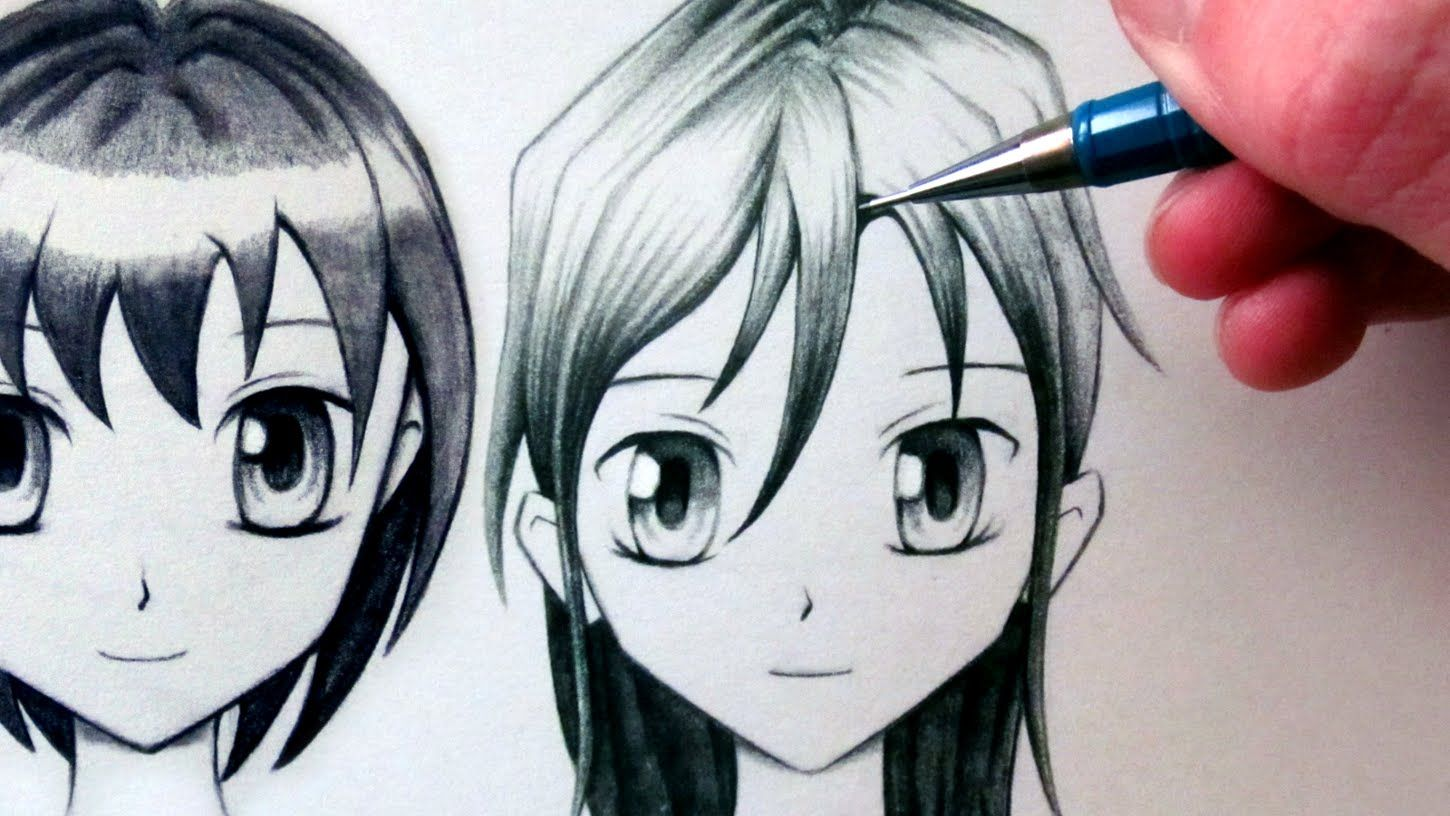 How To Draw A Manga Face Front View Female In 2020 Face Drawing Drawings Charcoal Drawing Tutorial