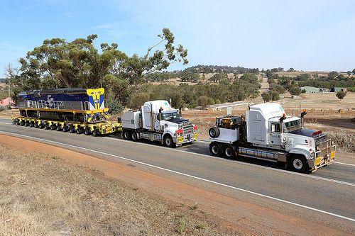 Trains on trucks