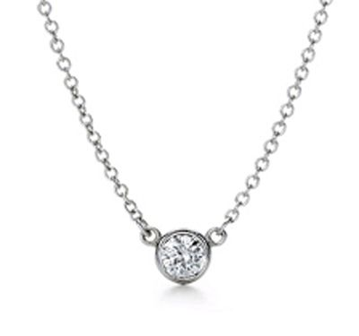 Tiffany & Co Elsa Peretti Diamonds by the Yard Pendant - simple and elegant (my favorite necklace from my favorite guy)