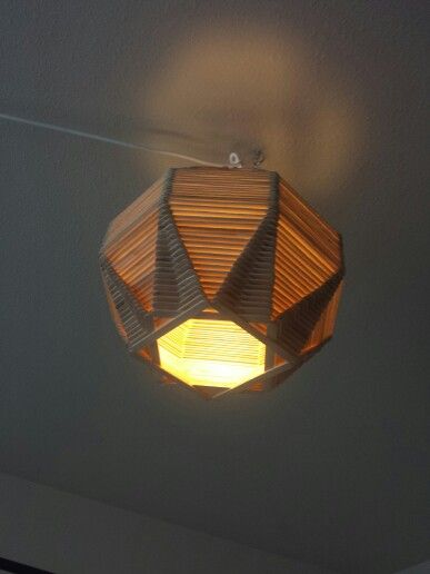 Popsicle Stick Globe Light Com Imagens Artesanato Com Palito