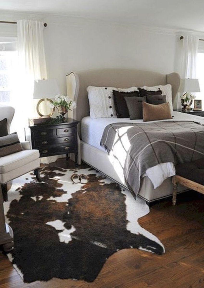 Western Boho Chic Cowhide Rug In 2020 Farmhouse Bedroom Decor Comfy Bedroom Rustic Bedroom
