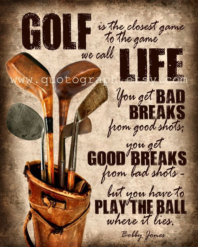 Office Pictures For Walls Golf: Golf Is The Closest Game To The Game We Call Life