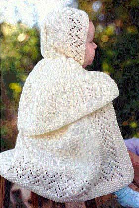 e9f897ffd Edwardian Carrying Cape for Baby. Pattern is knitted. So pretty.