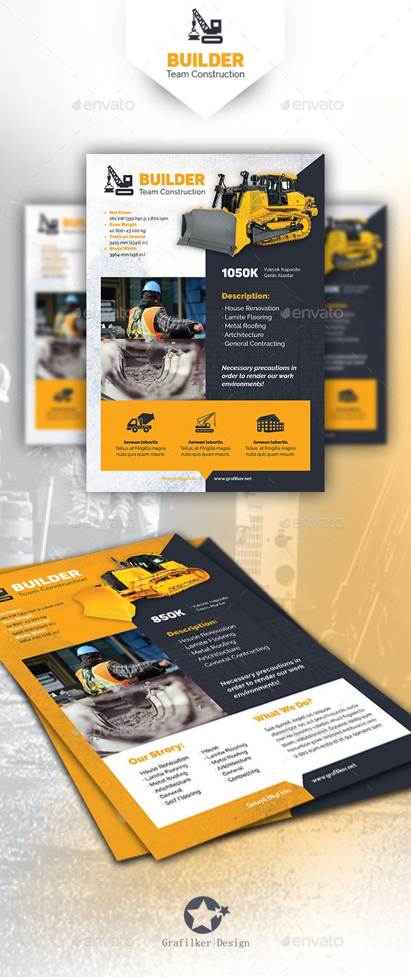 Construction flyer templates flyer template for Construction brochure design pdf