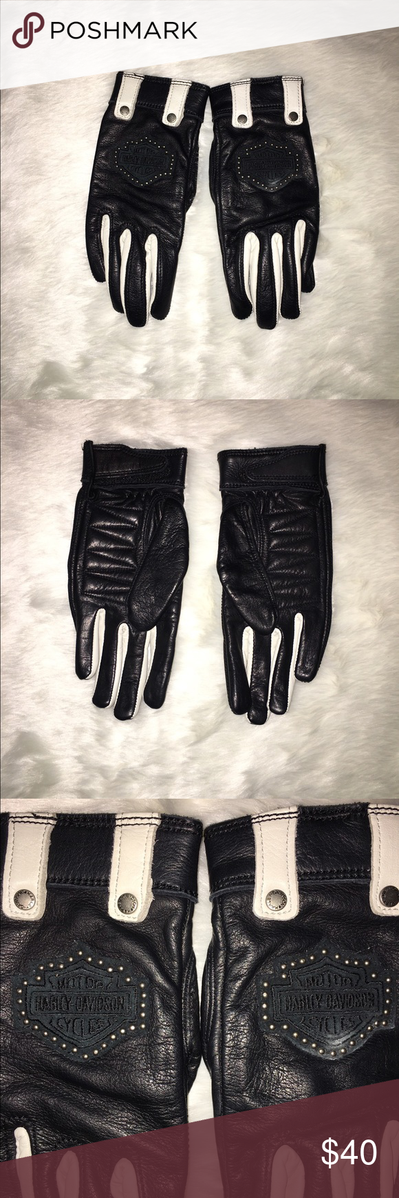 Xs black leather gloves - Harley Davidson Leather Gloves