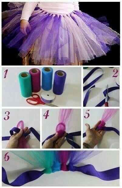 94fe635cc Como hacer un tutu con listón paso a paso | tutus para niñas ...
