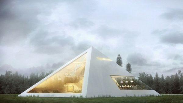 Innendesign studium  Haus in Form von Pyramide - #Architektur | Einrichtungsideen ...