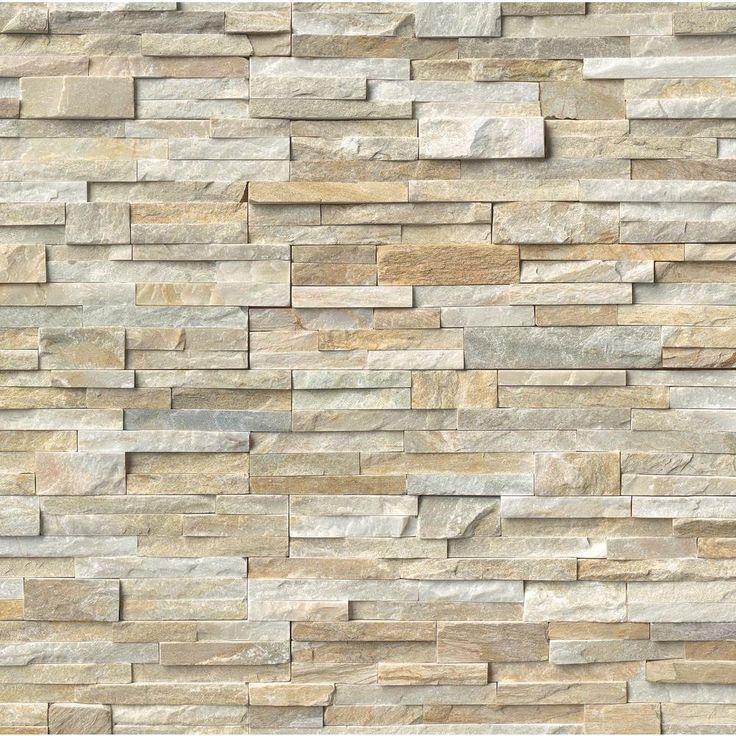 quartzite tile home depot - Google Search | Slate wall ...