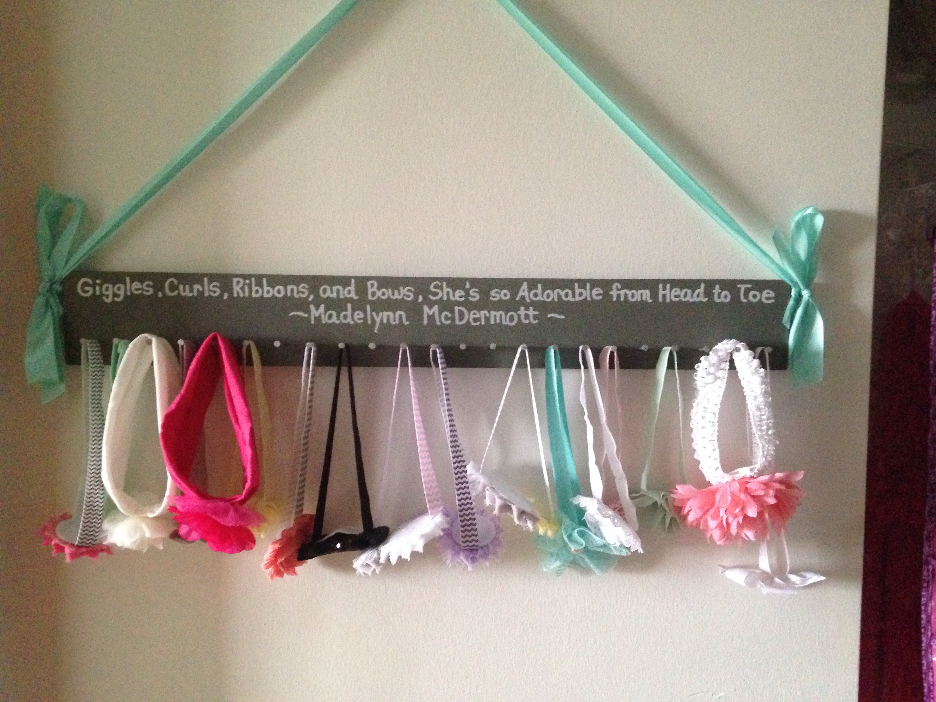Diy Headband Holder For Baby Girl Room Girls Room
