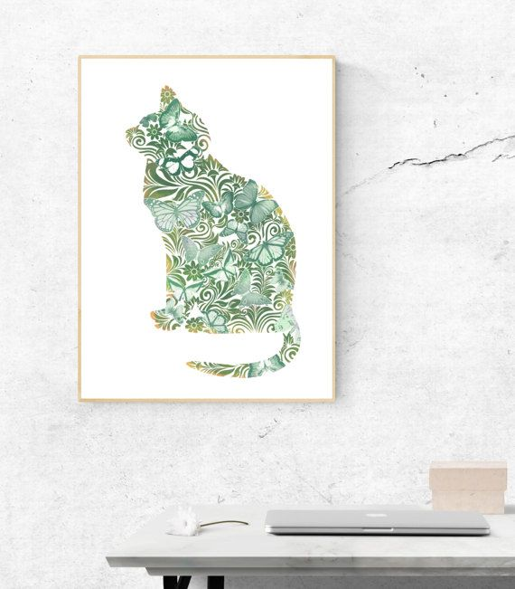 Ornament cat wall art poster prints art her instant by xpixDesigns