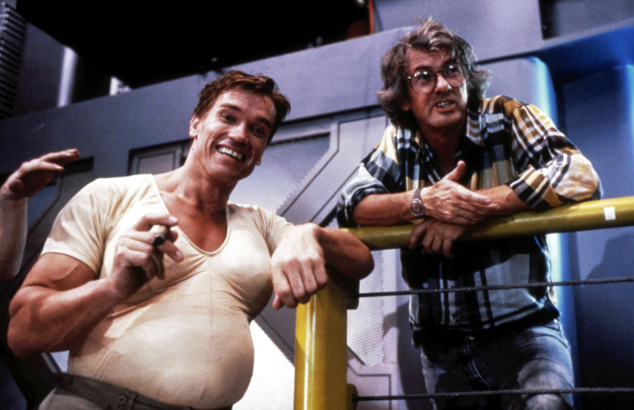 Total Recall 1990 Behind The Scenes Pictures Total Recall Total Recall 1990 Arnold Schwarzenegger