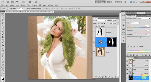 Tutorial: Cómo cambiar el color de cabello en una foto