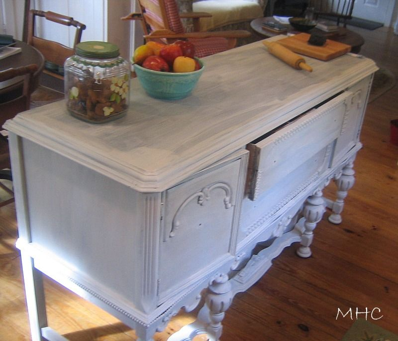 Room Turning A Buffet Sideboard Into Kitchen Island