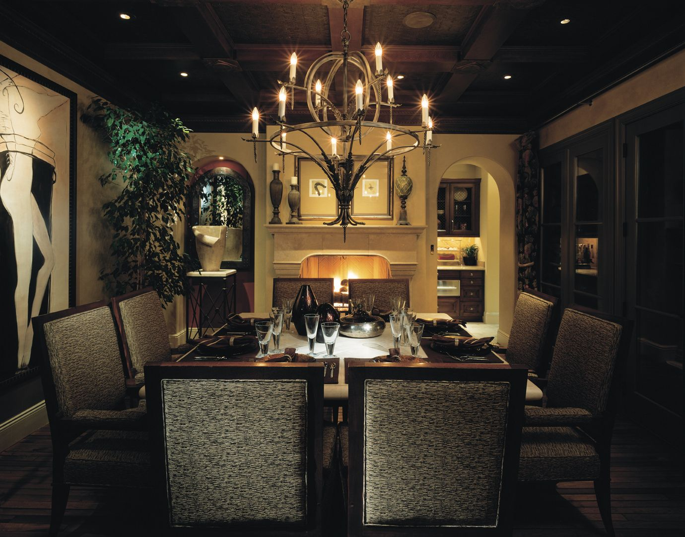 dining room lighting design for romantic nuance - Dining Room Light Fixtures