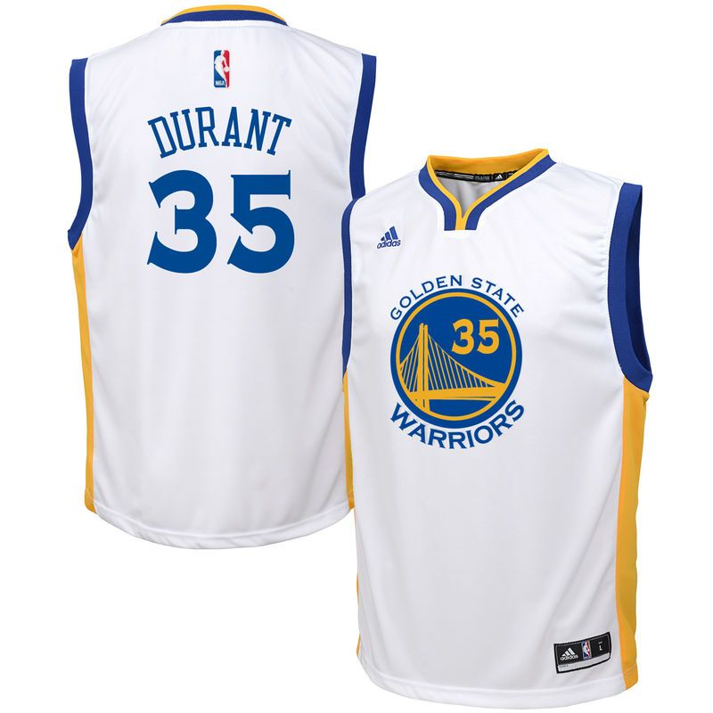 5439504c08a Kevin Durant Golden State Warriors adidas Youth Home Replica Jersey - White