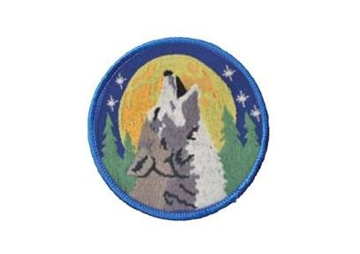 Howling Wolf Patch 3 Round patch Sew-on by TheSilverGoddess
