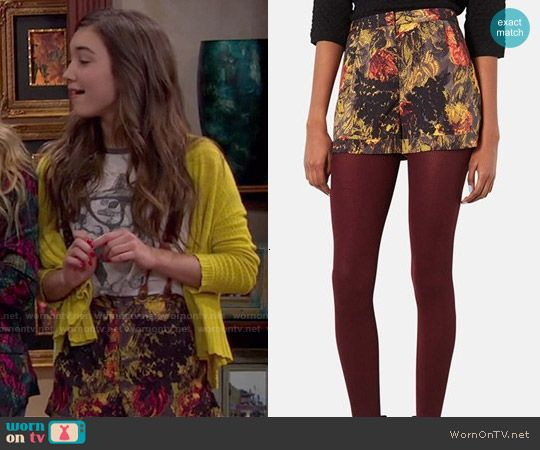 Riley's floral shorts on Girl Meets World.  Outfit Details: http://wornontv.net/49574/ #GirlMeetsWorld