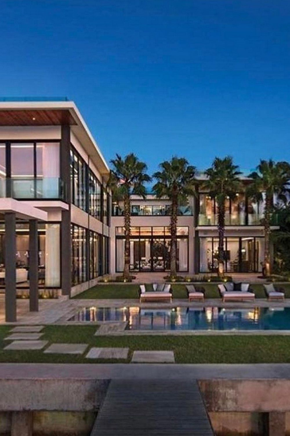 Miami Florida Mansions Architecture House Pool Houses