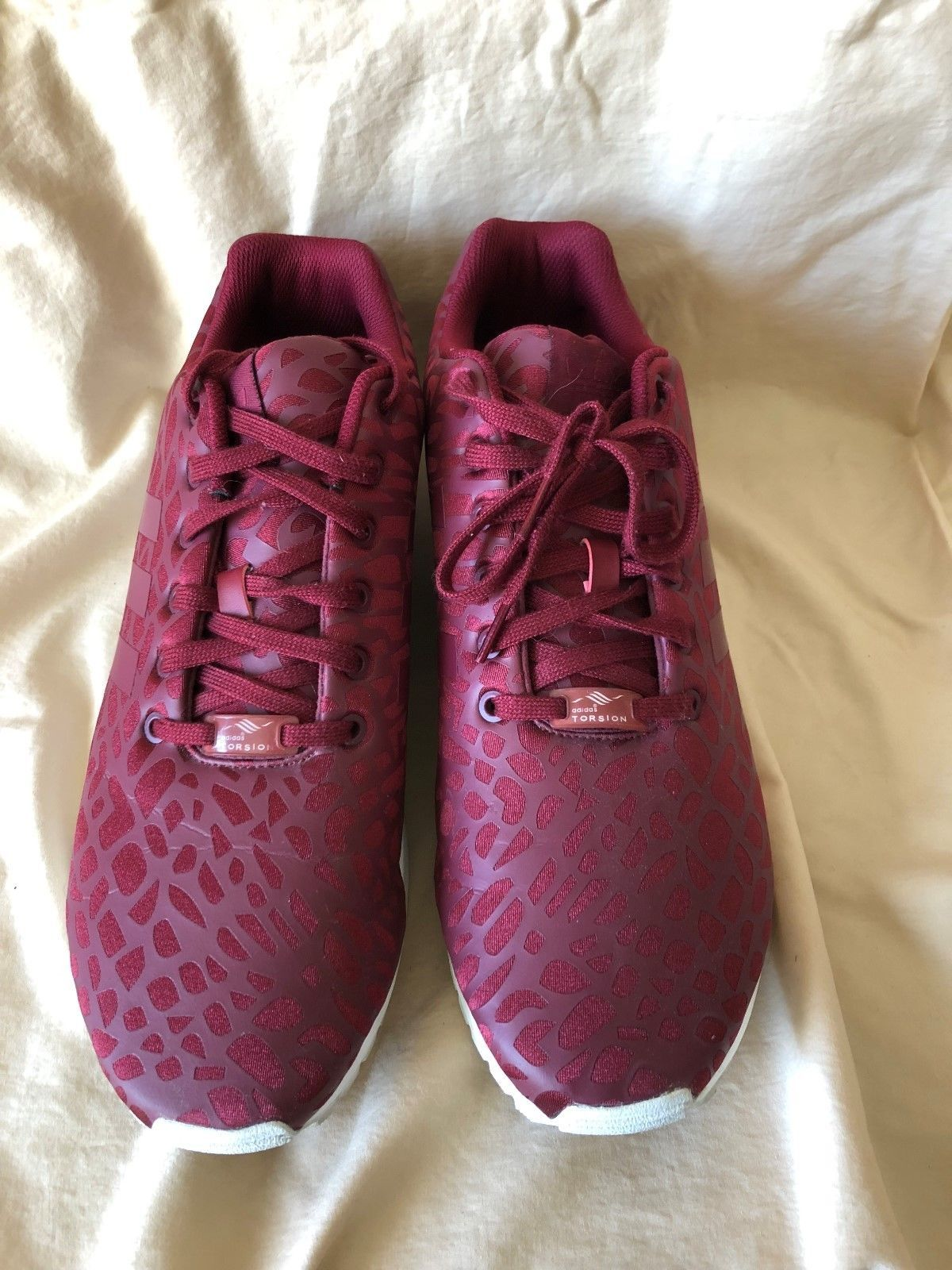 info for 0ae29 e774e 23 USD   Adidas Originals ZX Flux Mens Fitness Gym Workout Causal Trainers  Maroon Size 12