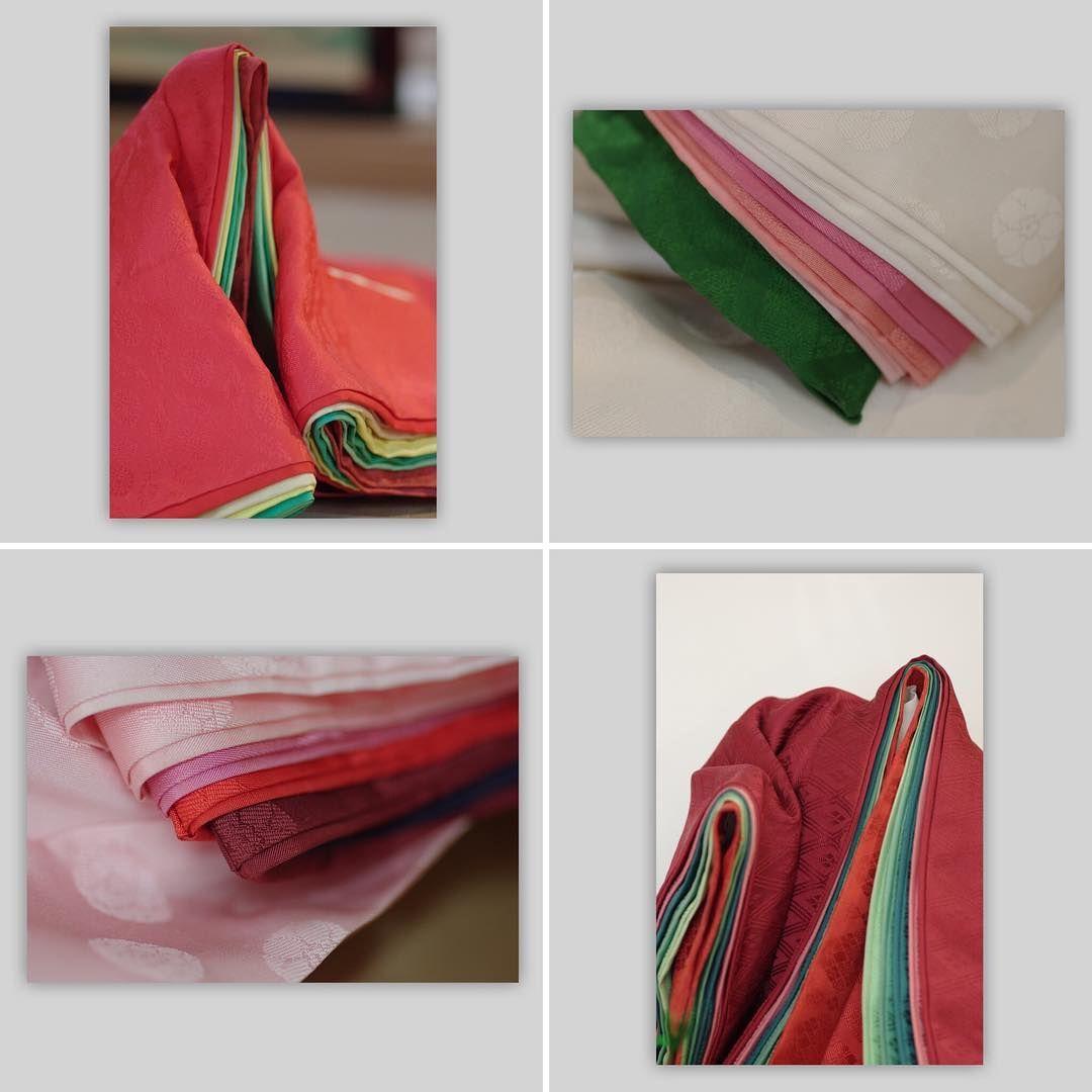 かさねの色目4種詰め合わせ 大変お得なセットになっております 紅紅葉 雪の下かさね 梅かさね 松かさね 京都 風俗博物館 装束 平安時代 色目 装束 配色
