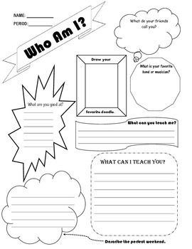 Who Am I Worksheet Icebreaker Worksheets Bible Study Materials