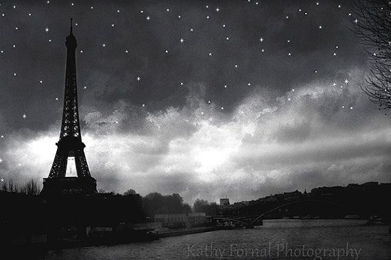 Paris black and white photography eiffel tower black white prints eiffel tower starry night print paris eiffel tower black and white art