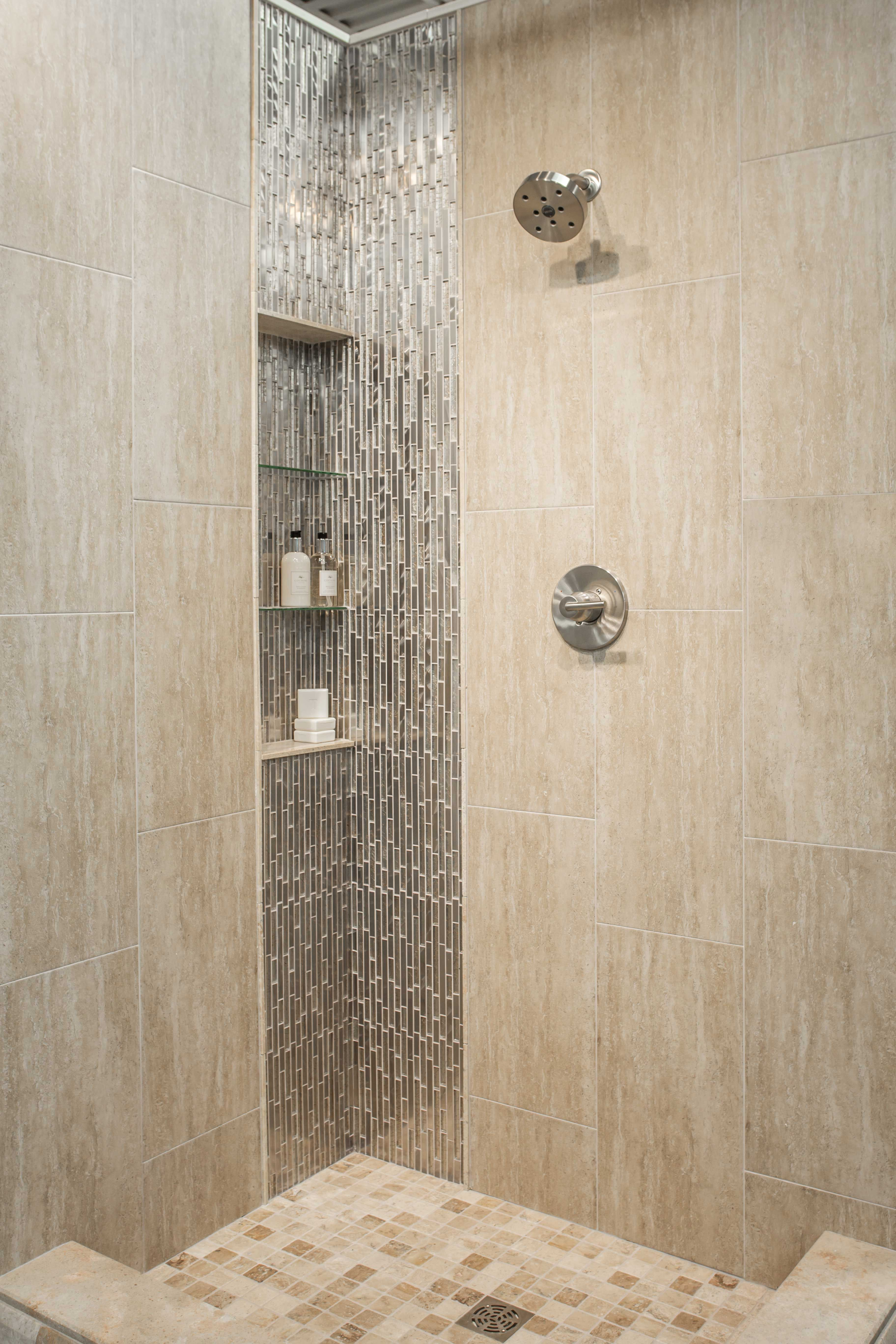 Bathroom shower wall tile classico beige porcelain wall for Bathroom wall remodel ideas