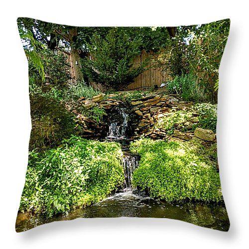 """Backyard Paradise Throw Pillow 14"""" x 14"""""""