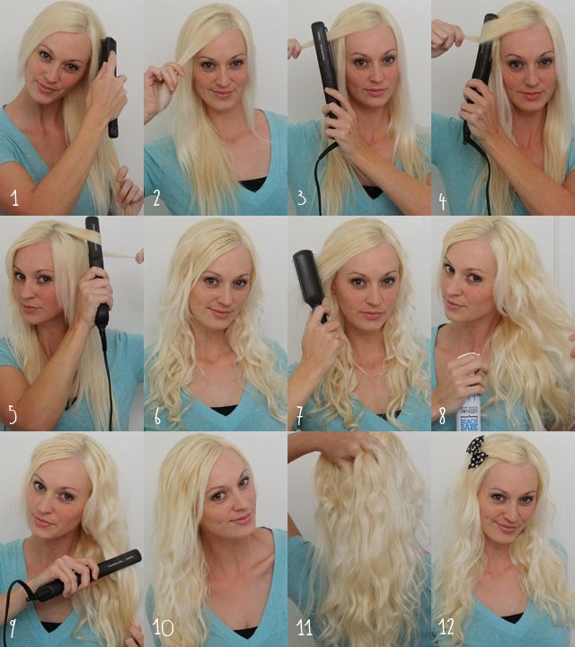 Sugar And Dots- How To Curl Hair With A Flat Iron Tutorial