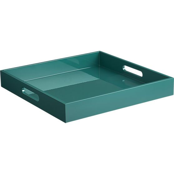 hi-gloss square blue green tray | Blue green, Trays and Squares
