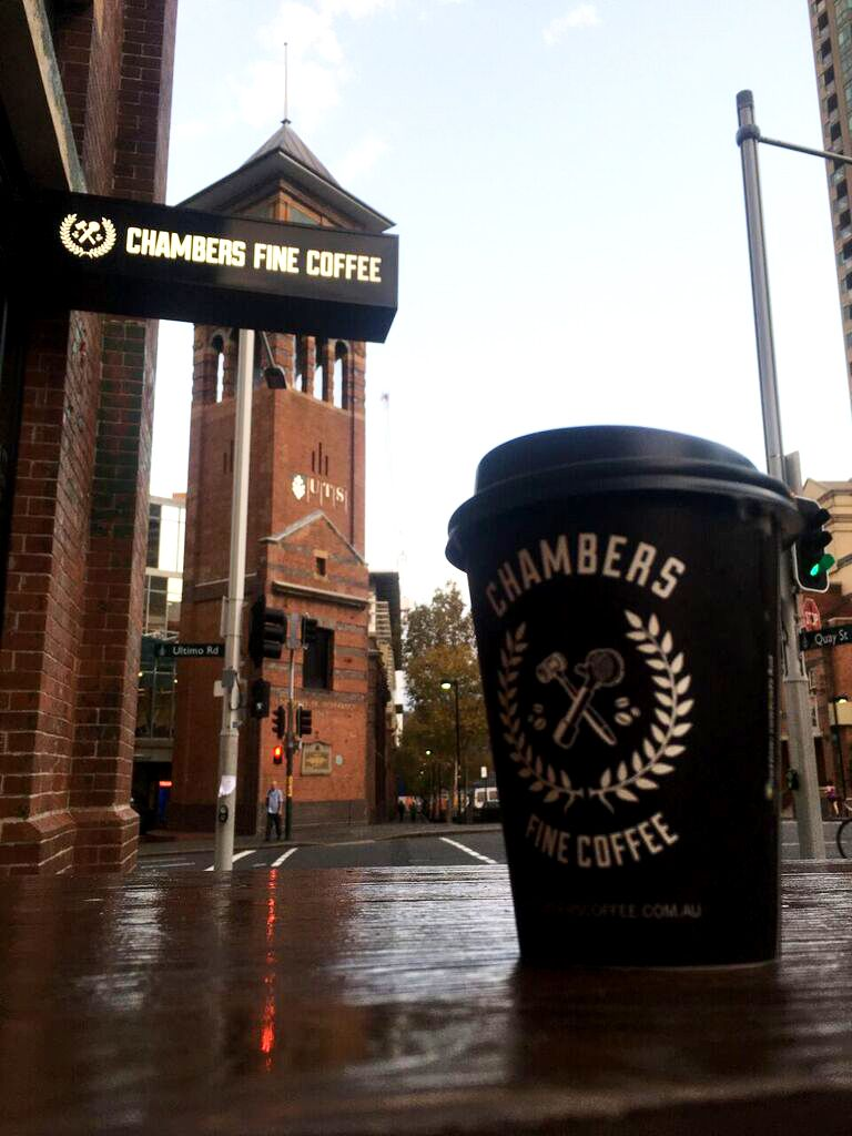Getting our morning fix at Chambers Fine Coffee in Sydney. #ChambersFineCoffee #Sydney