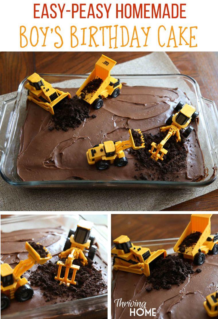 Diy Boy S Birthday Cake Construction Party Cheap Birthday Cakes
