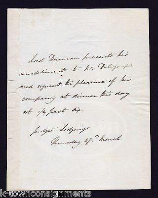 Lord thomas denman british chief justice judge antique dinner - formal dinner invitation letter