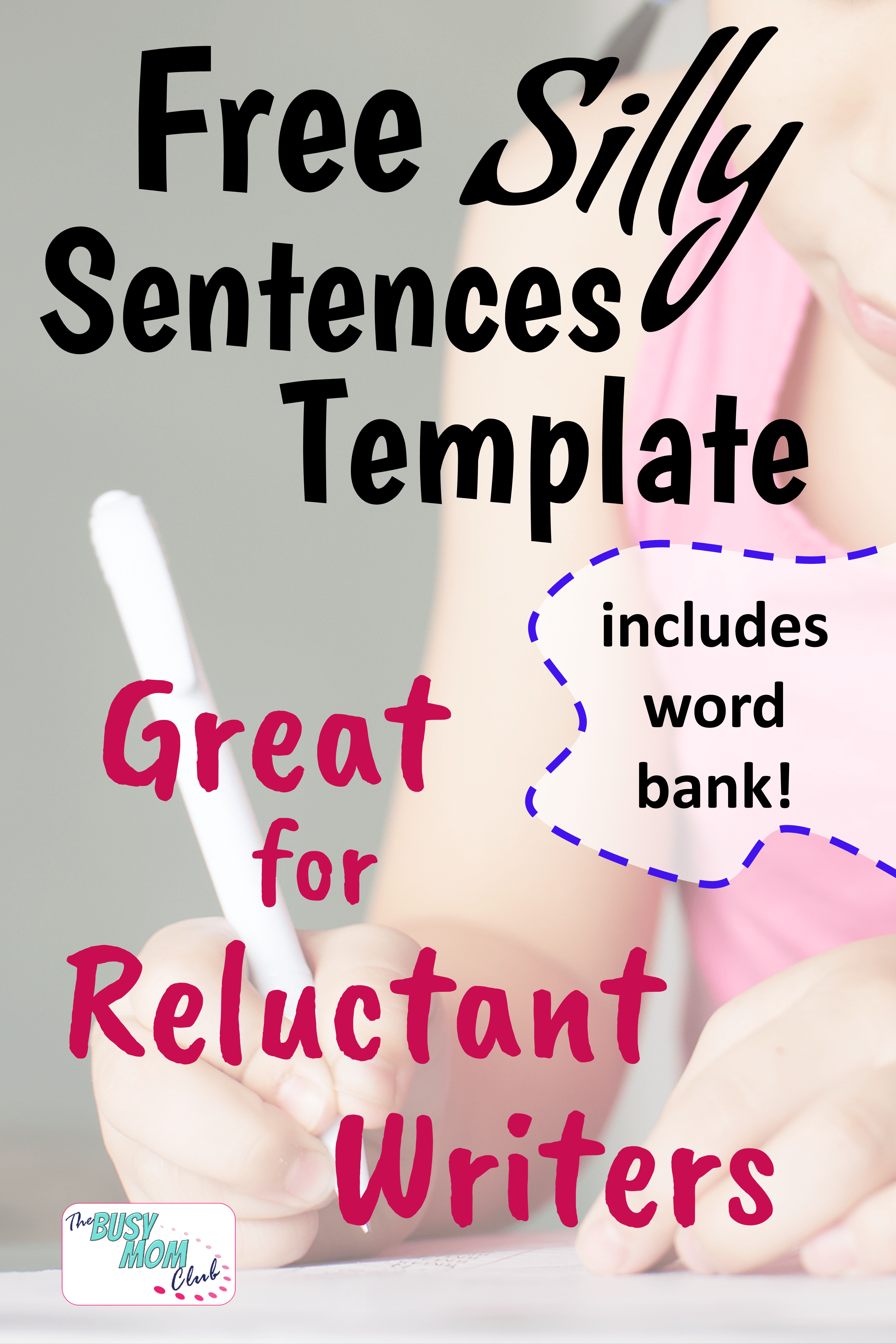 Reluctant Writer Activity What A Silly Sentence