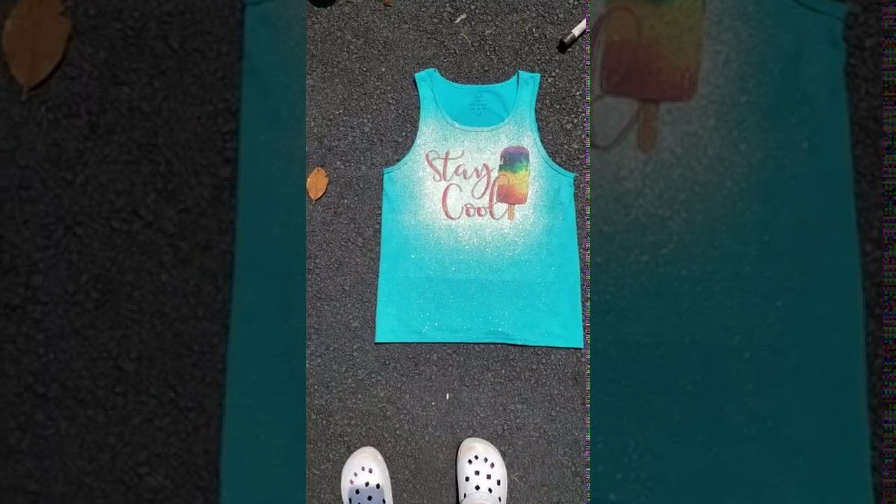 Bleached shirt sublimation how to youtube bleach