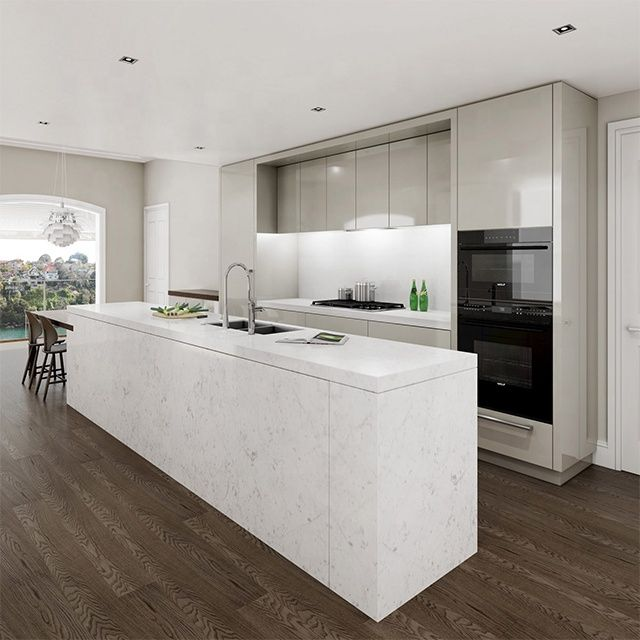 Best Popular Modern Design White High Gloss Mdf Lacquer Kitchen 400 x 300