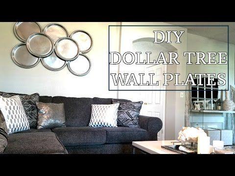 Dollar Tree Diy Wall Plates Diy Home Decor Design On A Dime Faux Mirror Youtube Dollar Tree Diy Plates On Wall Dollar Store Diy