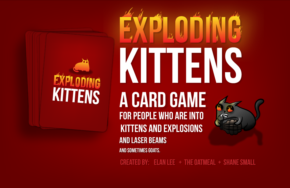 Drop everything and support it - exploding kittens cards game. http://ilikethesepixels.com/exploding-kittens-card-game/