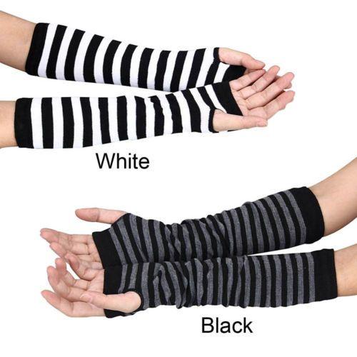 Women-Warmer-Mitten-Winter-Long-Knitted-Wrist-Arm-Hand-Warmer-Fingerless-Gloves