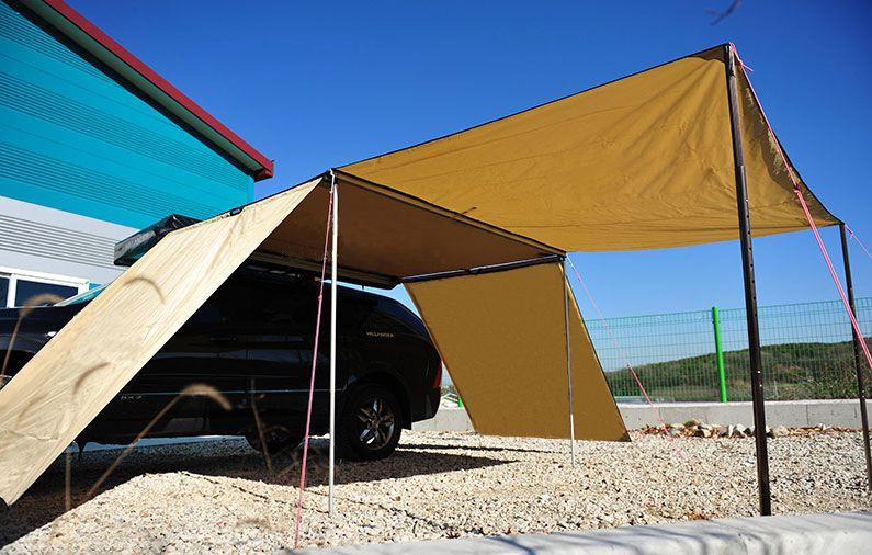 Side Awning With Extension Truck Tent Car Awnings Roof Top Tent