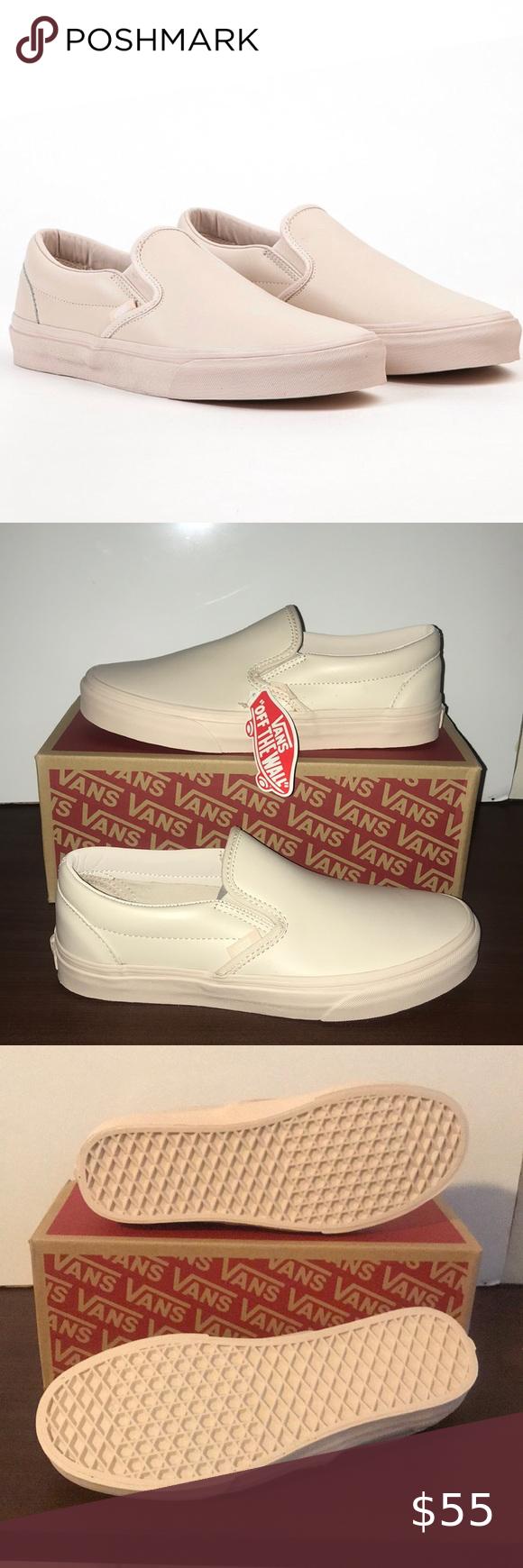 542014fcb1 Vans Classic Slip-On Vans Classic Slip-On Leather Whisper Pink Mono Brand  🆕 Vans Shoes