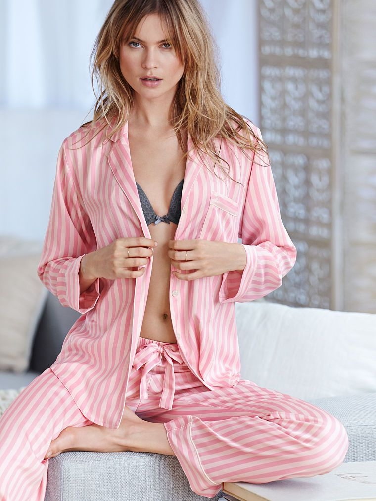 22633278a8 The Afterhours Satin Pajama - Victoria s Secret Color  Pink Stripe Size   Large (short)