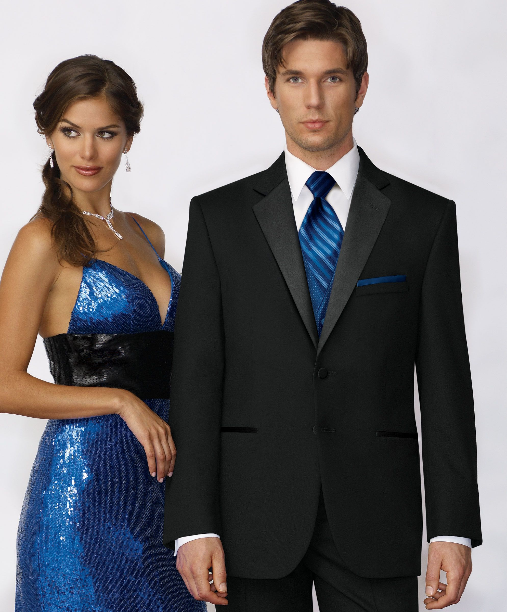 Black And Royal Blue Suit Photo Album - Klarosa