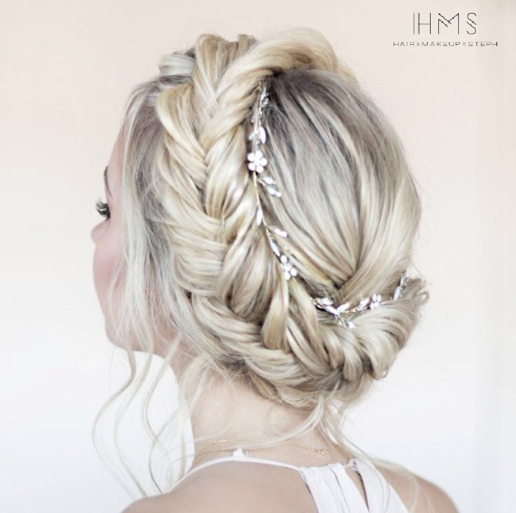 Full Crown Hairstyles: Full Crown Braid With Gorgeous Accent Piece #hair #updo