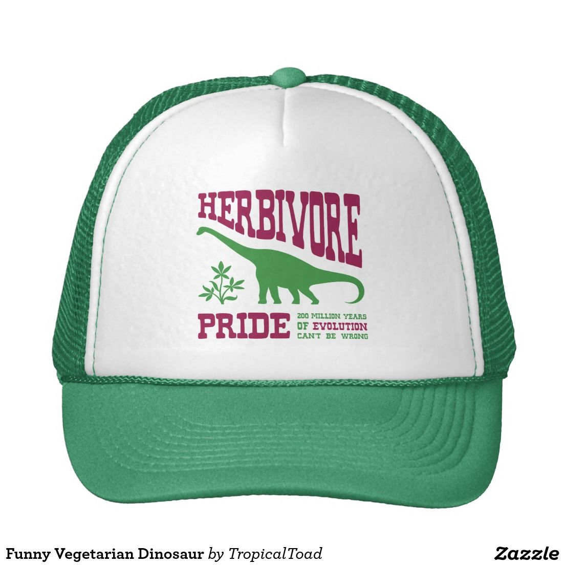 d3fddcd8e6b Support 200 million years of plant eating with a cute vegetarian dinosaur  trucker cap.