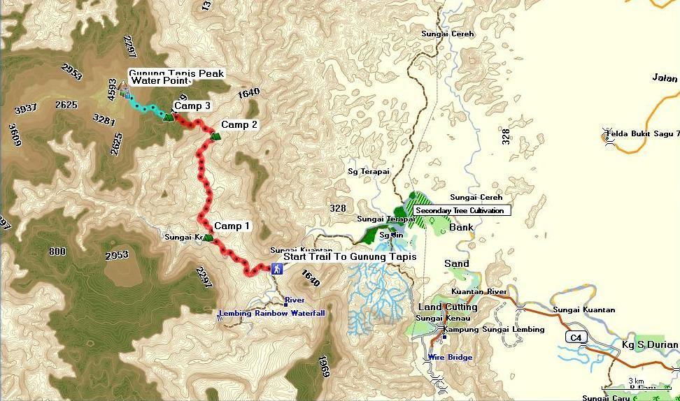 Map Source: Malaysia Trekking
