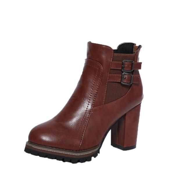 50ef66195938d PU Leather Booties in 2018