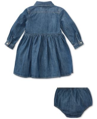 da5ec1314532 Polo Ralph Lauren Baby Girls Denim Cotton Shirtdress - Blue 9 months ...