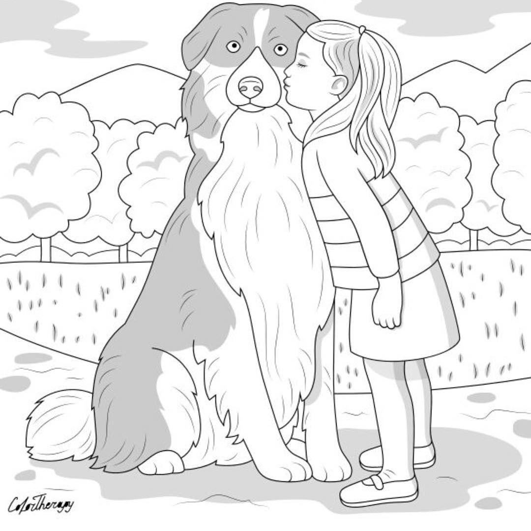 L Image Contient Peut Etre Dessin Dog Coloring Page Cool Coloring Pages Mandala Coloring Pages [ 1080 x 1080 Pixel ]