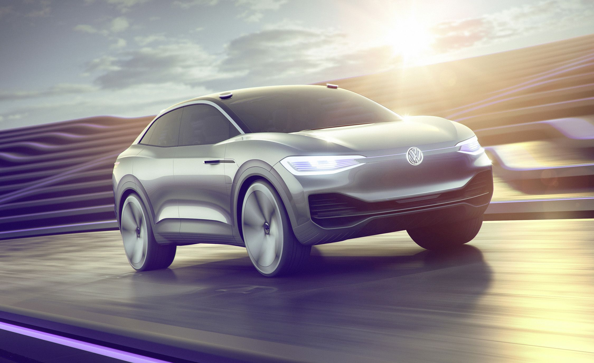 Volkswagen I D Crozz Concept The Ev Crossover That Can Wink Electric Crossover Volkswagen Car